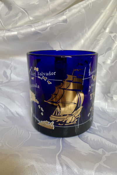 Blue Glass Treasure Island Mug