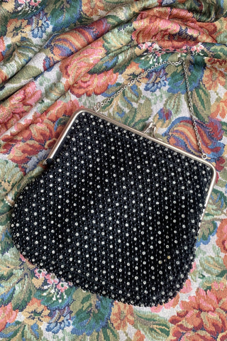 Black Corde Beadette Evening Bag