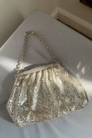 Whiting & Davis Mesh Metal Bag With Box