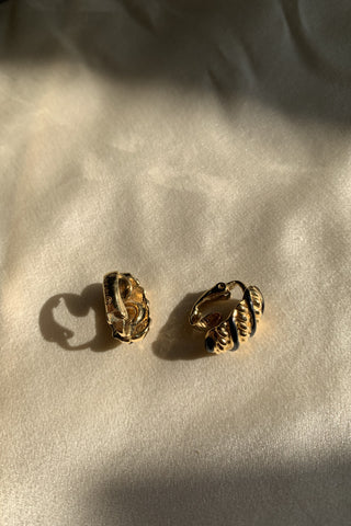 Mini Baguette Clip On Earrings