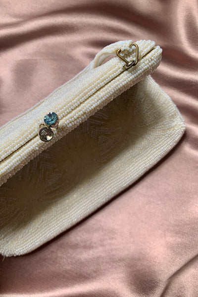 Goldwaters Milk White Beaded Bag
