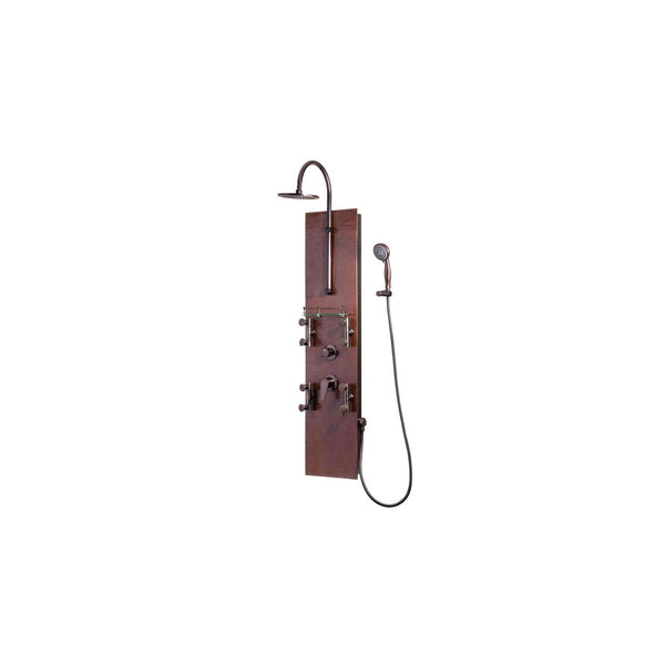 PULSE ShowerSpas 1016 Mojave Hammered Copper ORB ShowerSpa - homeconvex
