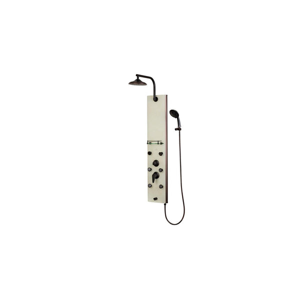 PULSE ShowerSpas 1040 Barcelona White Glass ORB ShowerSpa - homeconvex