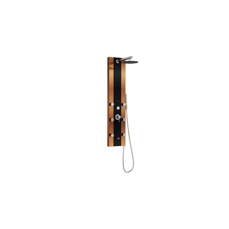 PULSE ShowerSpas 1049B-BN Rio Black Glass ShowerSpa - homeconvex