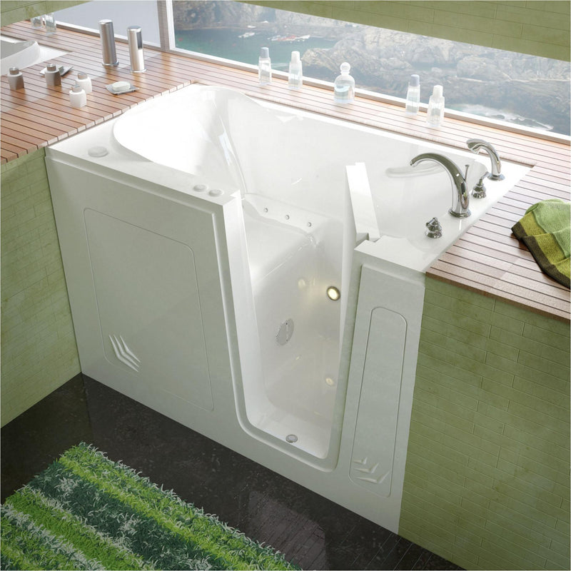 MediTub 3054RWA Walk-In 30 x 54 Right Drain White Air Jetted Walk-In Bathtub - homeconvex