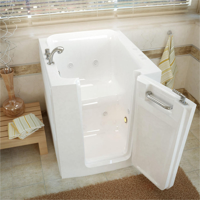 MediTub 3238RWH Walk-In 32 x 38 Right Door White Whirlpool Jetted Walk-In Bathtub - homeconvex