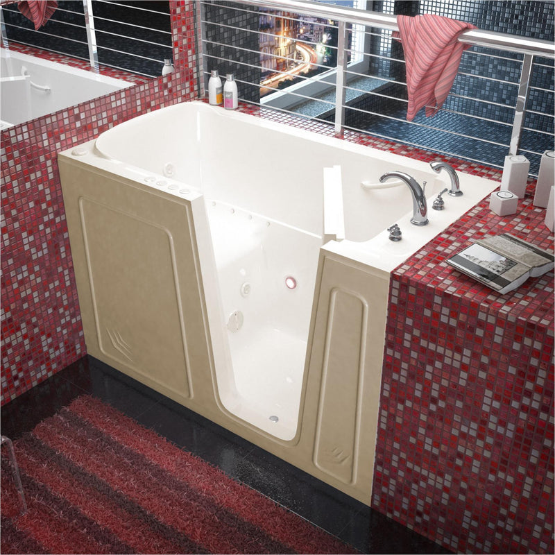 MediTub 3260RBD Walk-In 32 x 60 Right Drain Biscuit Whirlpool & Air Jetted Walk-In Bathtub - homeconvex