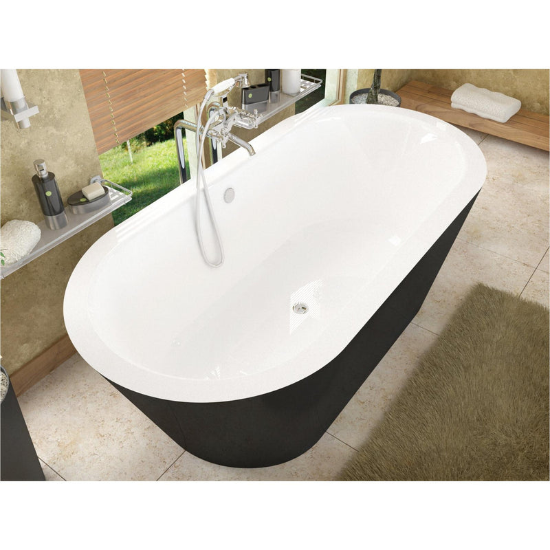 Atlantis Whirlpools 3265VY Valley 32 x 65 Freestanding One Piece Soaker Tub with Center Drain - homeconvex