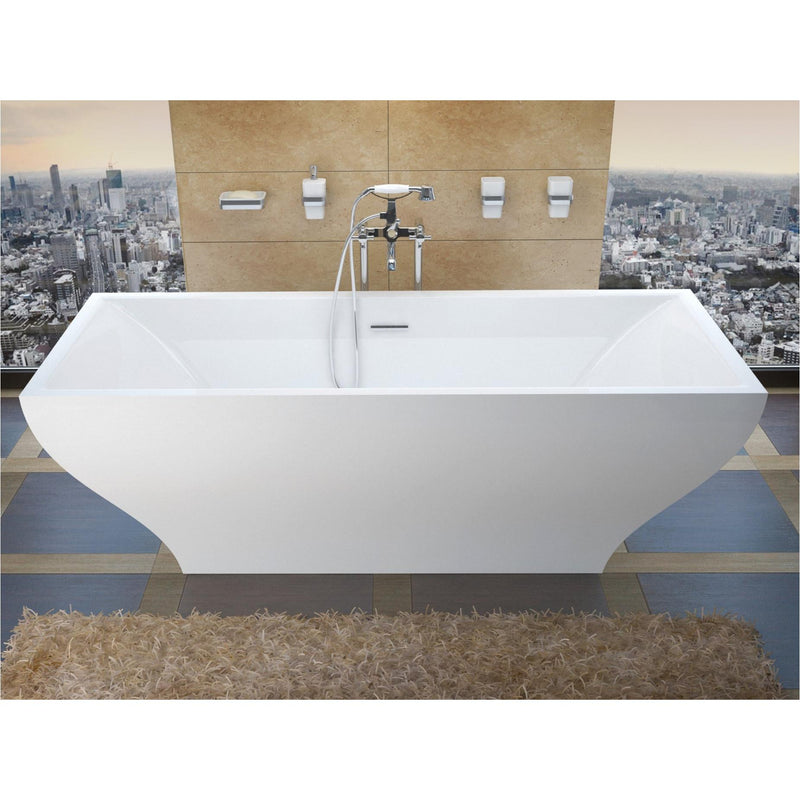 Atlantis Whirlpools 3271G Gulf 32 x 71 Freestanding One Piece Soaker Tub with Center Drain - homeconvex