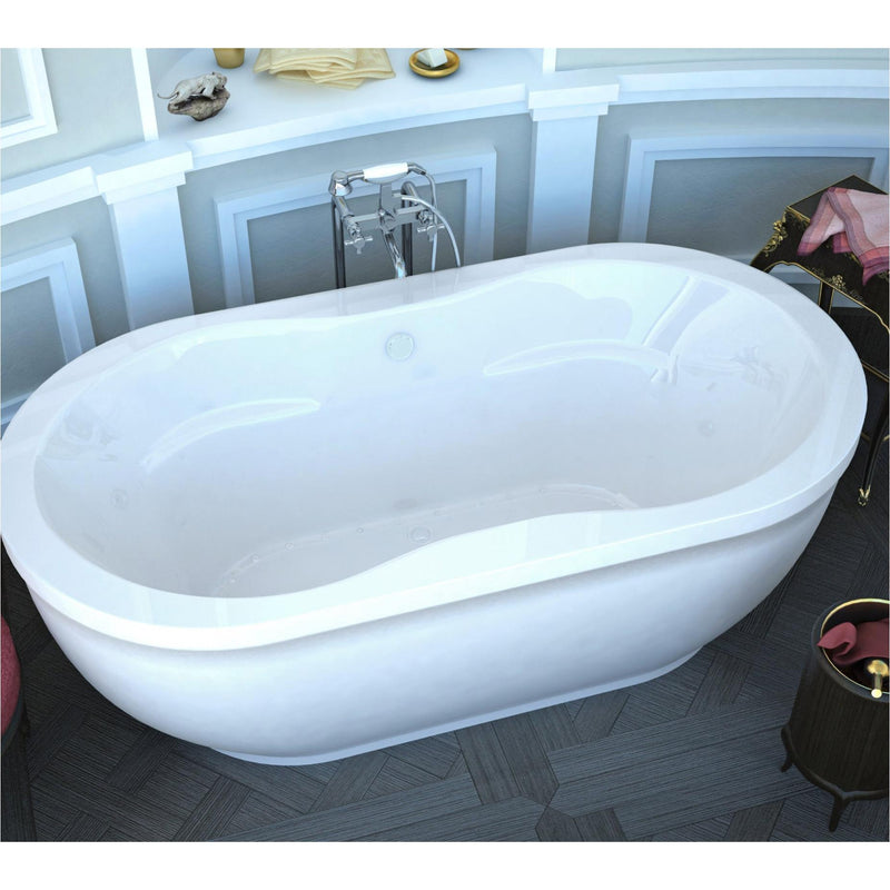Atlantis Whirlpools 3471AA Embrace 34 x 71 Oval Freestanding Air Jetted Bathtub - homeconvex
