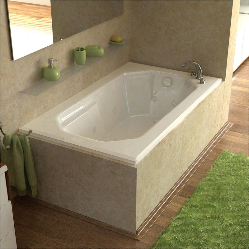 Atlantis Whirlpools 3660MDL Mirage 36 x 60 Rectangular Air & Whirlpool Jetted Bathtub - homeconvex