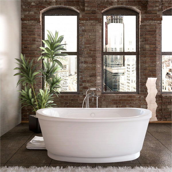 Atlantis Whirlpools 3666A Allure 36 x 66 Freestanding Tub with Center Drain - homeconvex