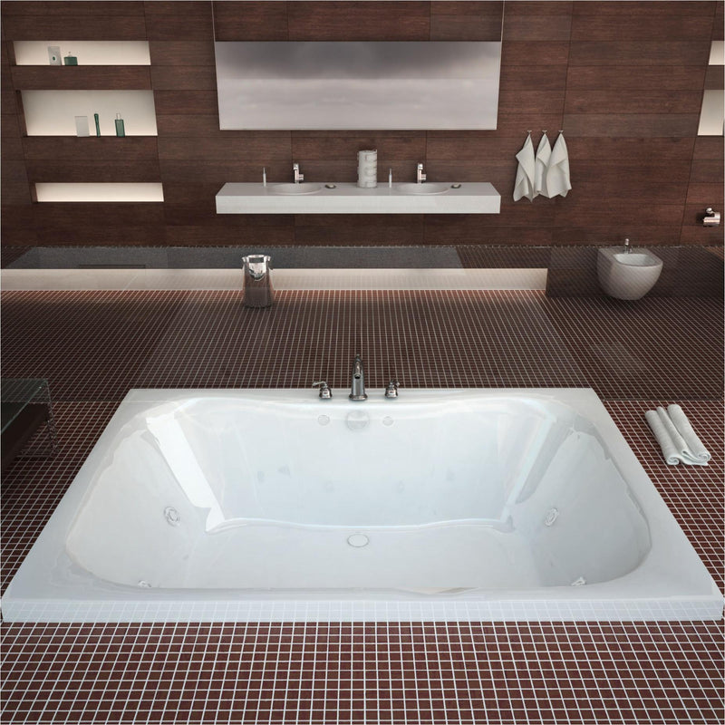 Atlantis Whirlpools 4060NWL Neptune 40 x 60 Rectangular Whirlpool Jetted Bathtub - homeconvex