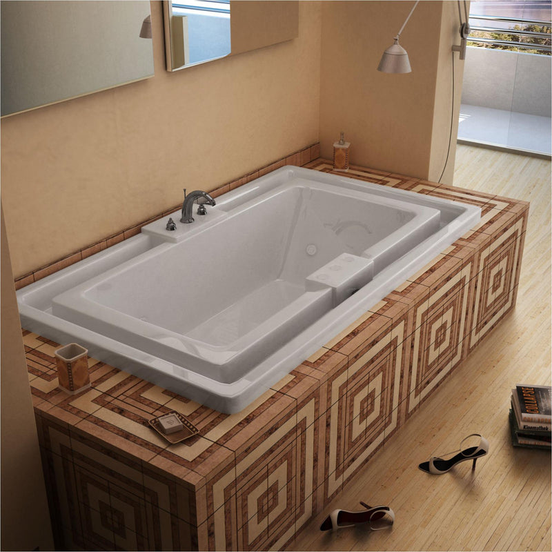 Atlantis Whirlpools 4678IWL Infinity 46 x 78 Endless Flow Whirlpool Jetted Bathtub - homeconvex
