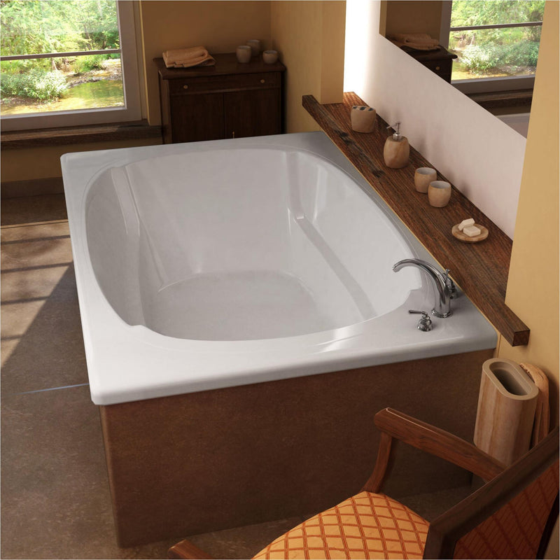 Atlantis Whirlpools 4878C Charleston 48 x 78 Rectangular Soaking Bathtub - homeconvex