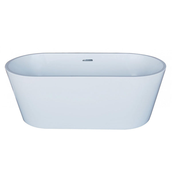 Atlantis Whirlpools 6731BWSXCWXX Bowen 32 x 67 Oval Acrylic Freestanding Bathtub - homeconvex