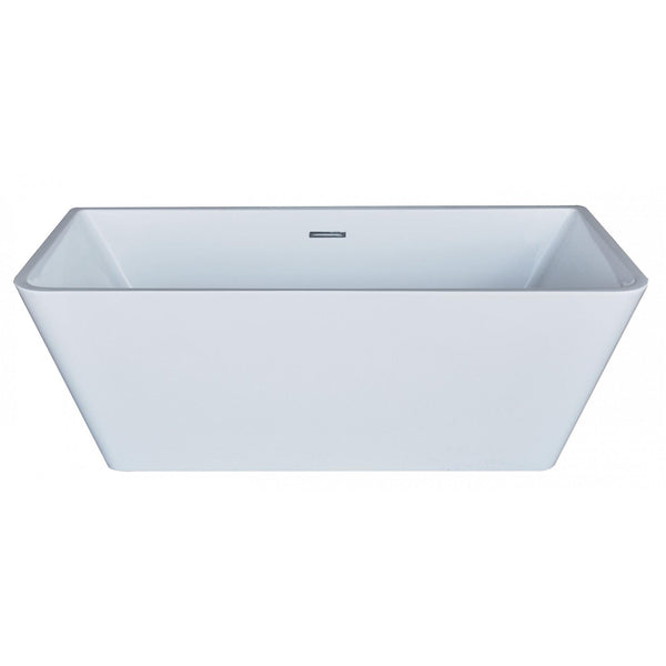 Atlantis Whirlpools 6731LYSXCWXX Lyvia 32 x 67 Rectangle Acrylic Freestanding Bathtub - homeconvex