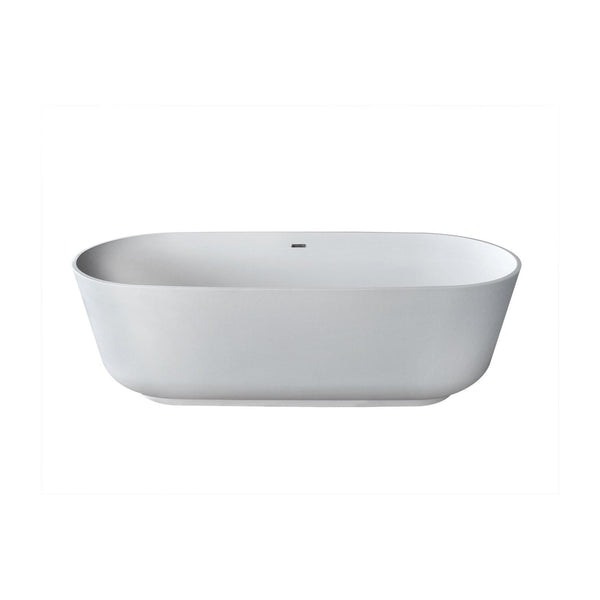 Atlantis Whirlpools 7131ASSXCWXX Asaro 32 x 71 Artificial Stone Freestanding Bathtub - homeconvex