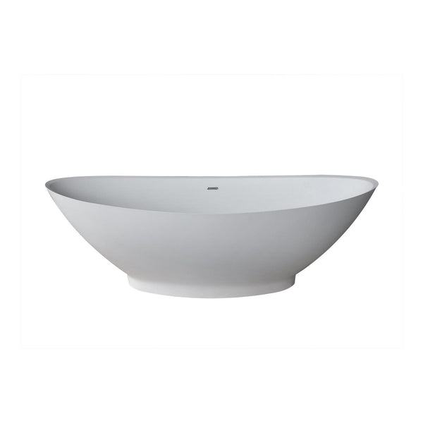 Atlantis Whirlpools 7233LCSXCWXX Lucea 34 x 73 Artificial Stone Freestanding Bathtub - homeconvex
