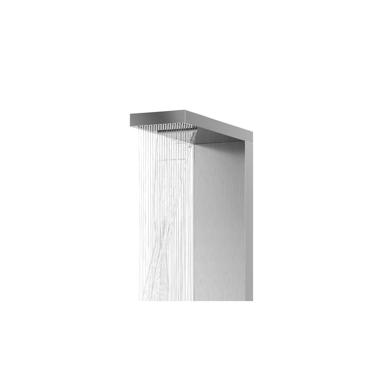 PULSE ShowerSpas 1035 Oahu Matte Brushed Stainless Steel ShowerSpa - homeconvex
