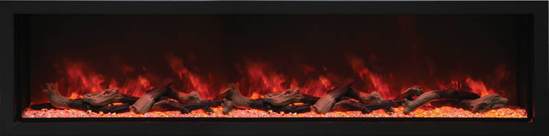Amantii BI-88-DEEP-XT 88″ Wide – Deep Indoor or Outdoor Electric Built-in only with Black Steel Surround
