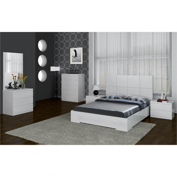 Whiteline Modern Living BF1207 Anna Bed Full, high gloss white - homeconvex