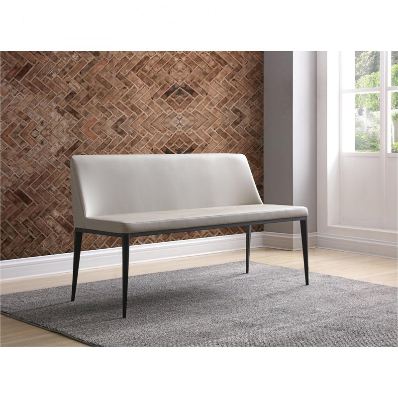 Whiteline Modern Living BN1479 Carrie Bench Light Grey - homeconvex