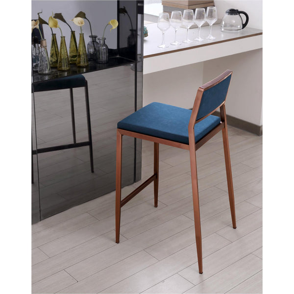 Whiteline Modern Living BS1627P Clifton Counter stool Teal Blue - homeconvex