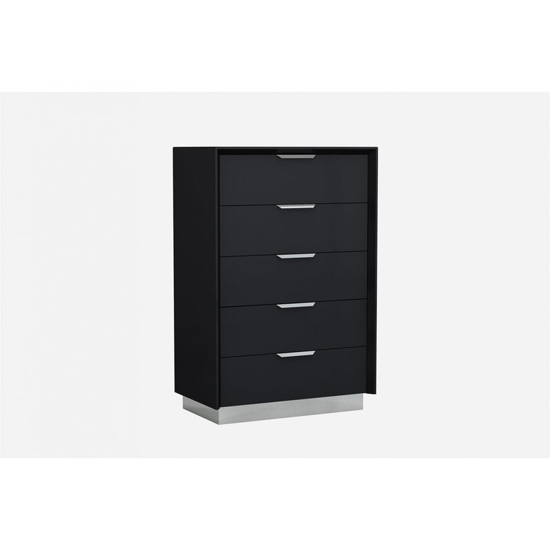 Whiteline Modern Living CD1354 Navi Chest of Drawers Black - homeconvex
