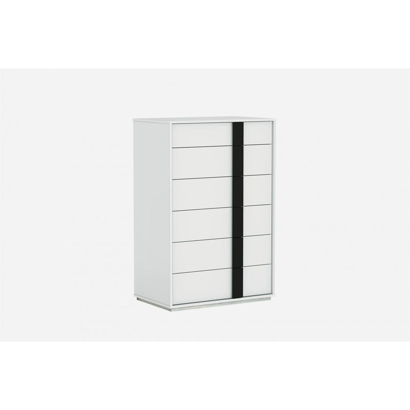 Whiteline Modern Living CD1617 Kimberly Chest of Drawers High Gloss White - homeconvex