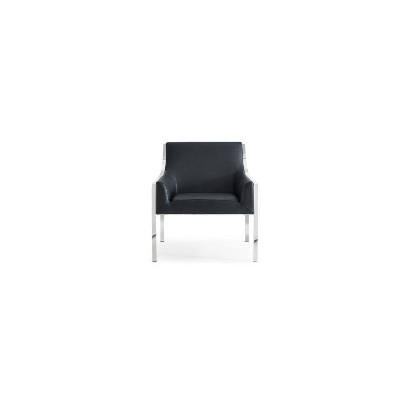 Whiteline Modern Living CH1391 Dalton Leisure Armchair Black - homeconvex