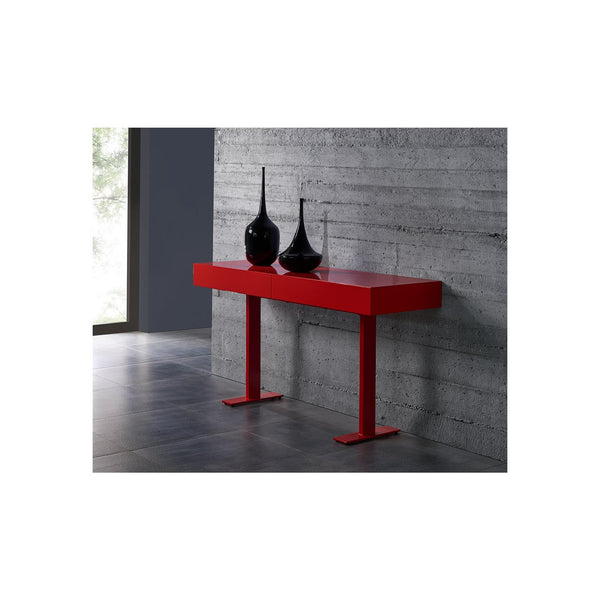 Whiteline Modern Living CO1646 Liam Console, Matte Red - homeconvex