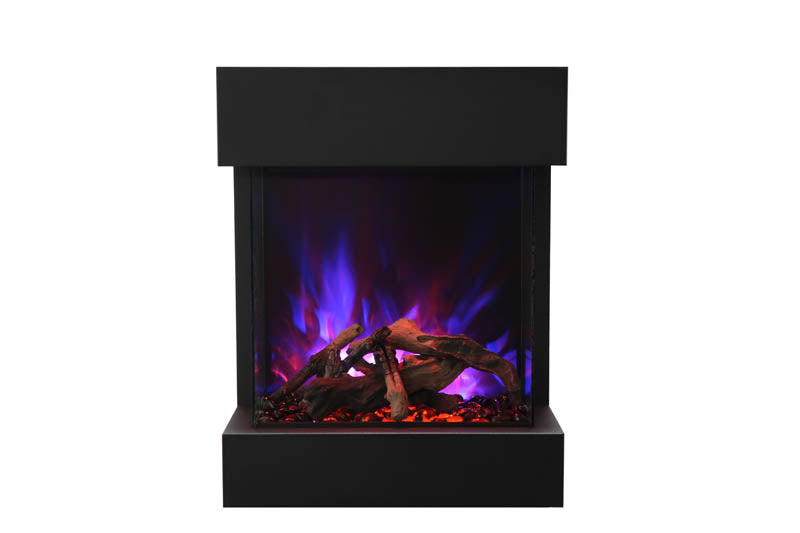 "Amantii CUBE-2025WM 25"" unit - 11 3/4"" in depth 3 sided glass fireplace"