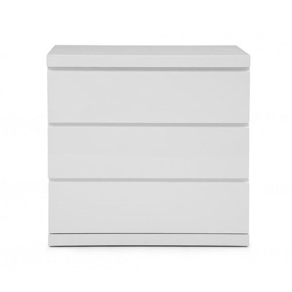 Whiteline Modern Living DR1207S Anna Dresser Single High Gloss White Full Self close runners - homeconvex