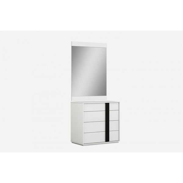 Whiteline Modern Living DR1617S Kimberly Single Dresser, High Gloss White - homeconvex