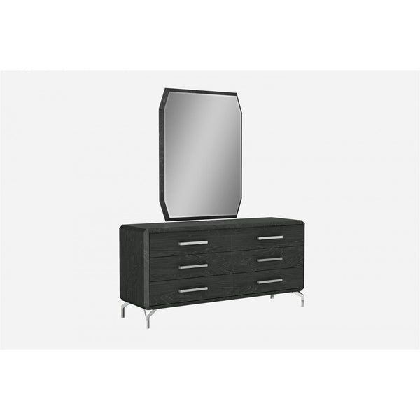 Whiteline Modern Living DR1618D Los Angeles Double Dresser, High Gloss Grey - homeconvex