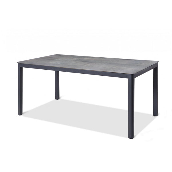 Whiteline Modern Living DT1675 Anabel Indoor/Outdoor Dining Table, Grey - homeconvex
