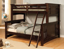 Furniture Of America IDF-BK602F-EXP Cottage Twin / Full Bunk Bed
