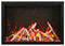 "Amantii TRD-48 48"" Fireplace – includes a steel trim, glass inlay, 20 piece log set with remote and cord"