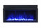 Amantii BI-50-XTRASLIM 50″ Extra Slim Indoor or Outdoor Electric Built-In only Electric Fireplace with black steel surround