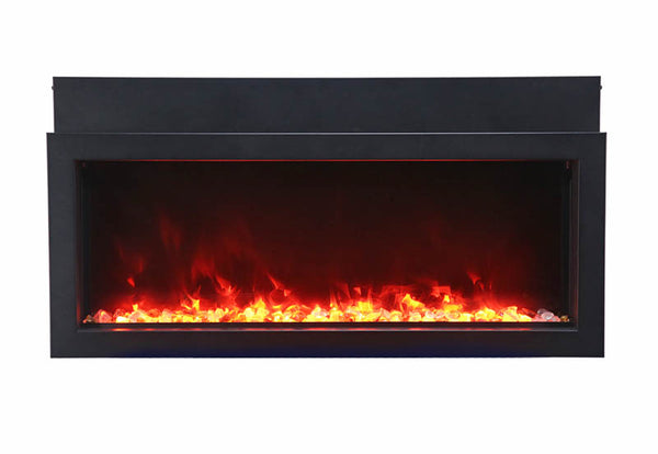 Amantii MAN-BMKB-XS40 Knotty Black birch wood mantel ‐ surround for BI‐40‐XTRASLIM