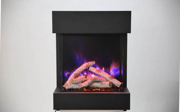 "Amantii 2939-TRU-VIEW-XL 29'' width  39'' high unit – 11 3/4"" in depth 3 sided glass fireplace"