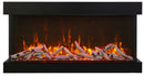 "Sierra Flame WM-FML-26-3223-STL 26"" Wall Mount / Flush Mount with Steel Surround with clear media"