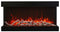 "Amantii 40-TRU-VIEW-XL 40"" 3 sided glass electric fireplace Built-in only"