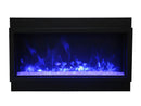Amantii BI-60-DEEP-XT 60″ Wide – Deep Indoor or Outdoor Electric Built-in only with Black Steel Surround