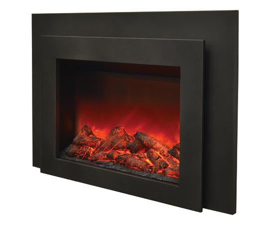 "Sierra Flame INS-FM-34 34"" Insert Insert with Dual Steel Surround"