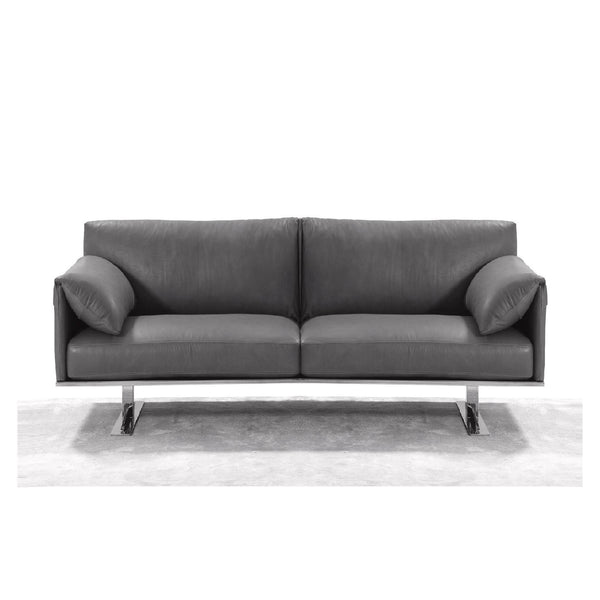 Whiteline Modern Living LS1616 Gaber Love Seat, Grey - homeconvex