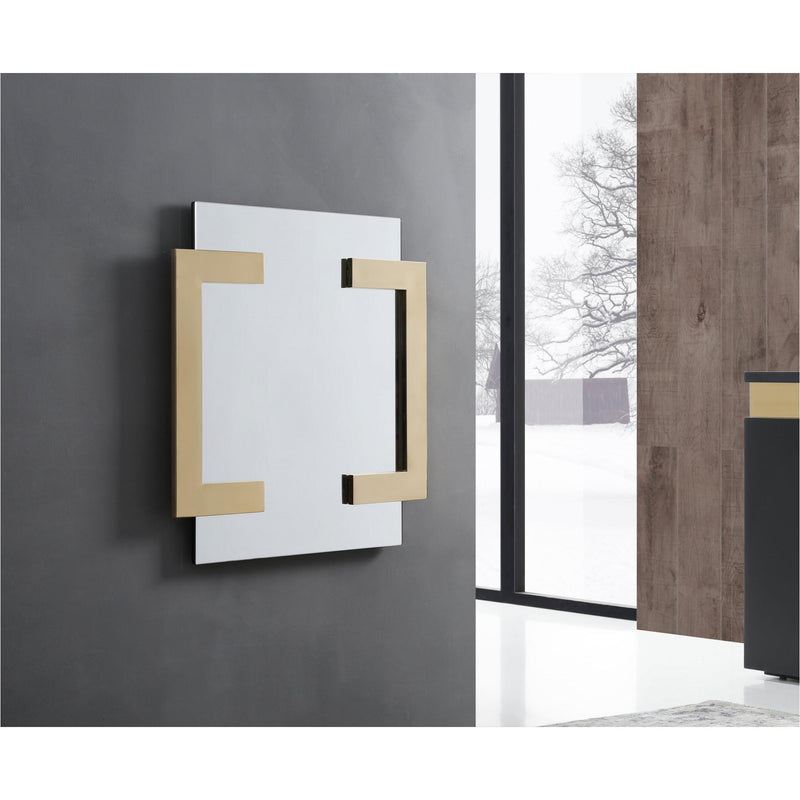Whiteline Modern Living MR1658 Sumo Square Mirror Polished Gold - homeconvex