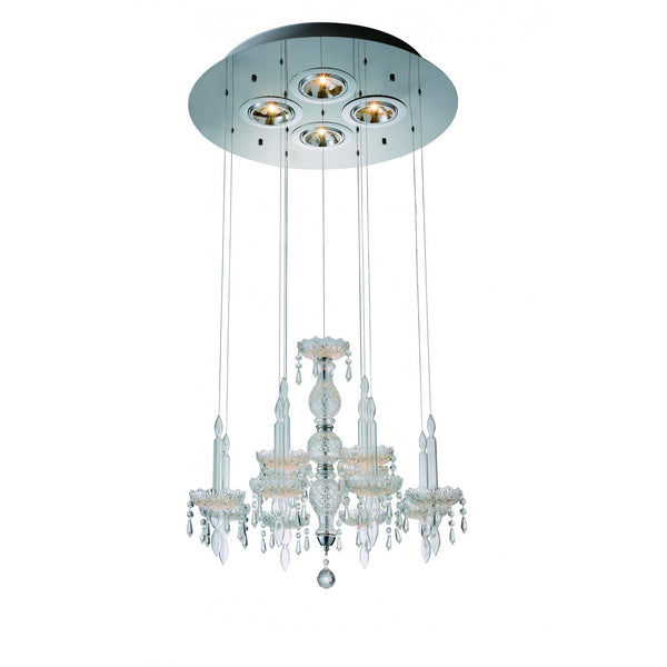 Whiteline Modern Living PL1505 Macy Pendant Lamp Clear Glass and Crystal.. - homeconvex