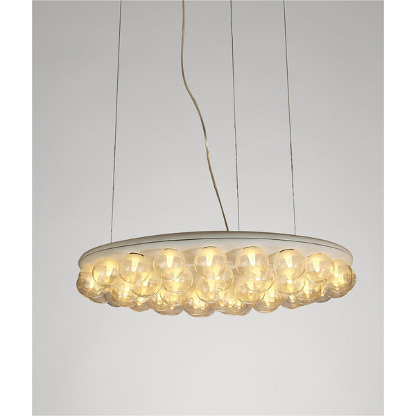 Whiteline Modern Living PL1509 Ruby Pendant Lamp in white metal and glass bulbs - homeconvex